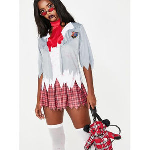NWT! Halloween Perpetually Dead Zombie Schoolgirl